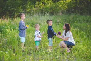 mom and boys